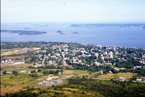 Aerial photo of Eastport, ME, circa 1998